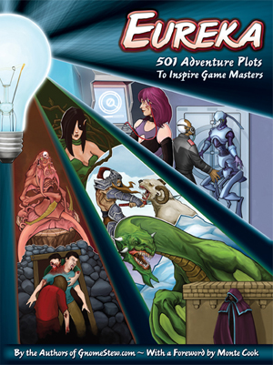 Front cover of Eureka: 501 Adventure Plots to Inspire Game Masters