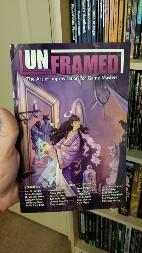 Preorders for Unframed: The Art of Improvisation for Game Masters open Monday June 2 (and a final preview)